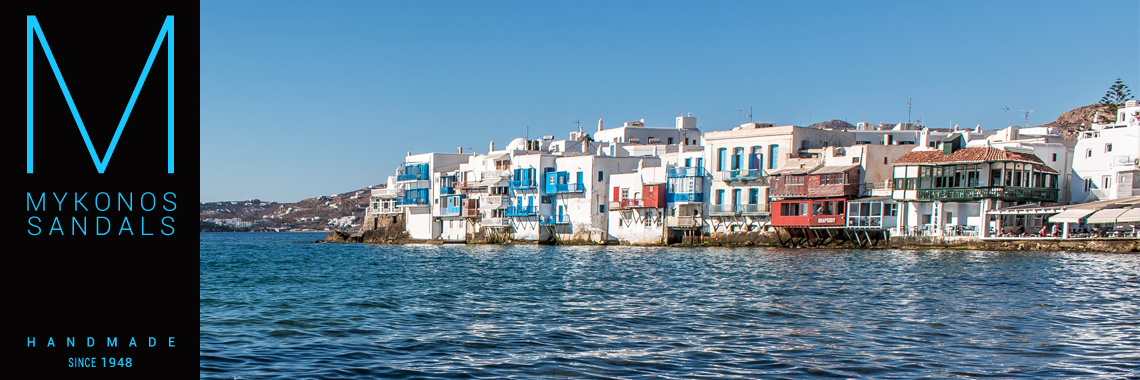 Mykonos Sandals - Find Us at Little Venice