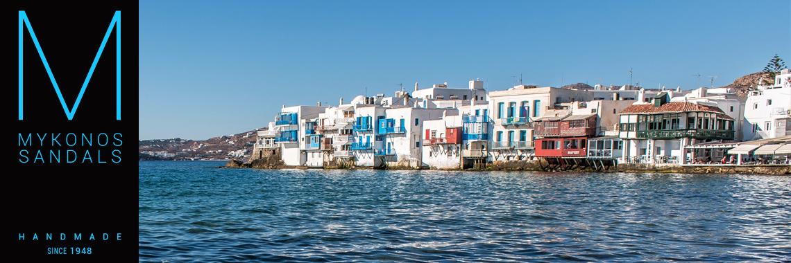 Mykonos Sandals - Find Us at Little Venice