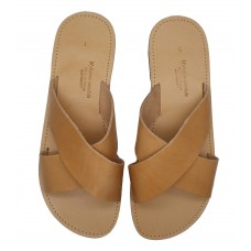 Cross Over Slide Sandal - Natural