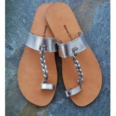 Silver Toe Loop Sandal