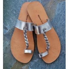 Silver Toe Loop Sandal