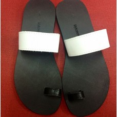 Black and White Sandal