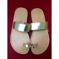 Gold Toe Loop Sandal