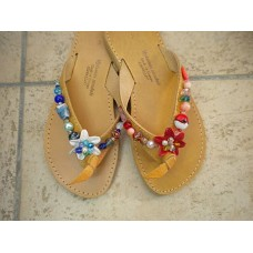 Leather Flowers Sandal