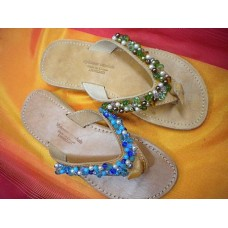 Blue or Honey Beads Sandals