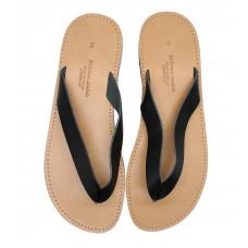 Two Tone Flip Flops Black