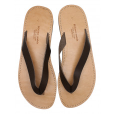 Two Tone Flip Flops Brown
