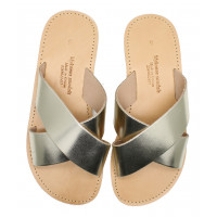 Cross Slide Sandal - Gold