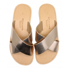 Cross Slide Sandal - Rose Gold