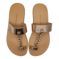 Rose Gold Toe Loop Sandal